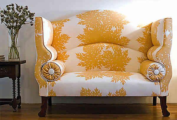 Tapizado de diseño en sillón