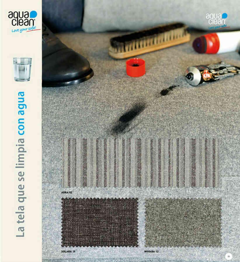 Muestra telas para tapizar sofás con proteccion de manchas