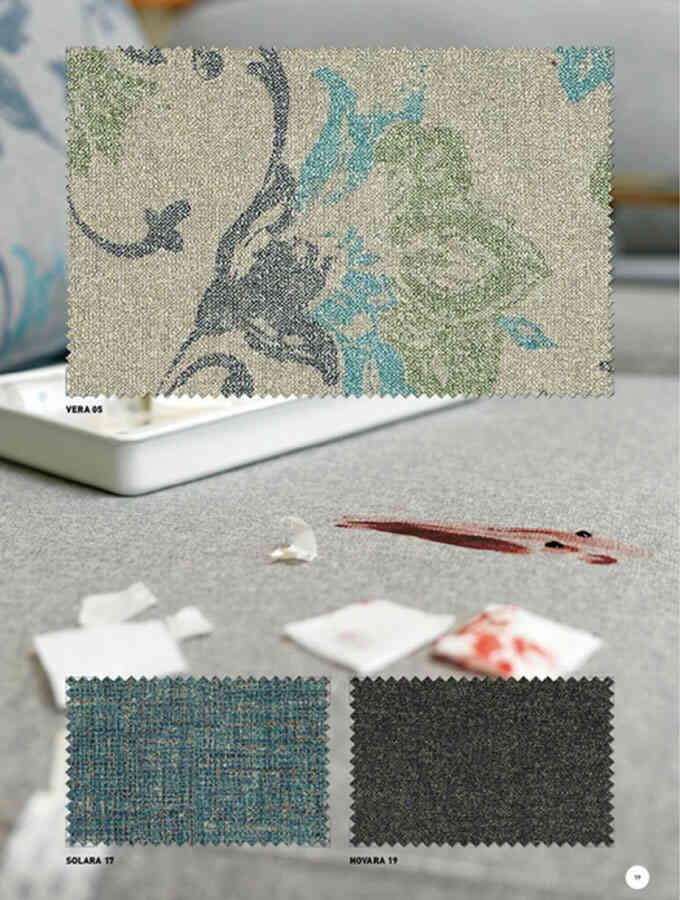 Muestras de telas para tapizar
